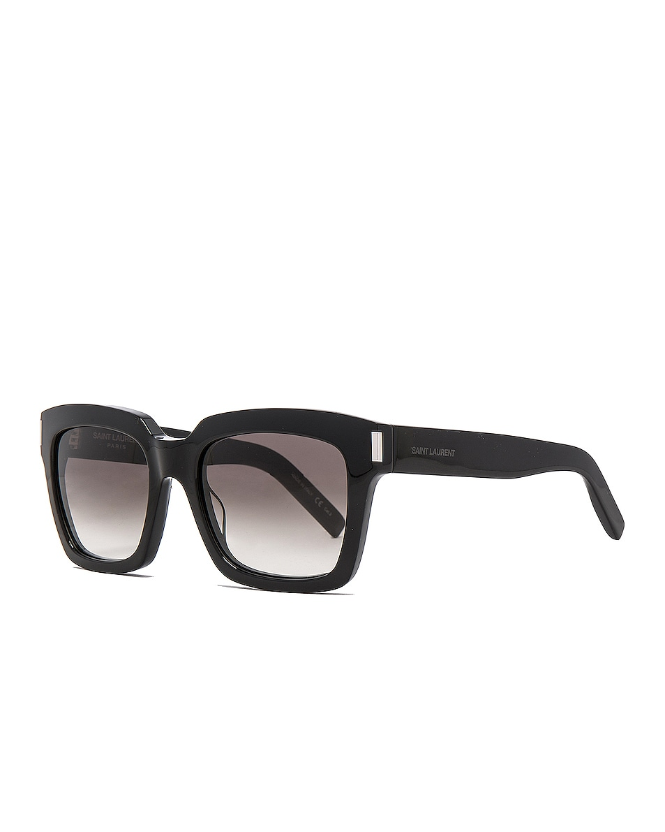 Image 2 of Saint Laurent Bold 1 Sunglasses in Black & Grey