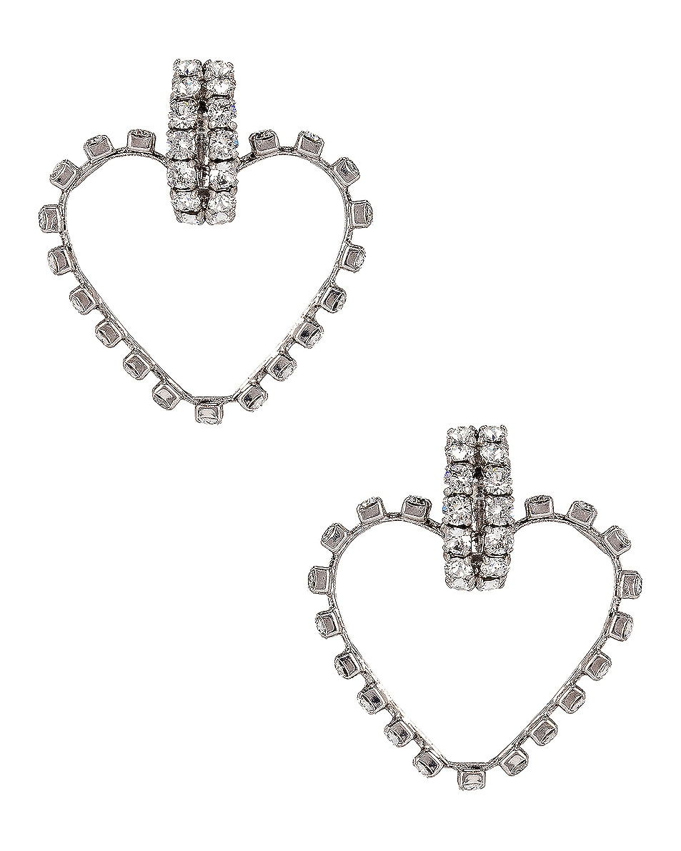 Saint Laurent Earrings Heart Clip Earrings