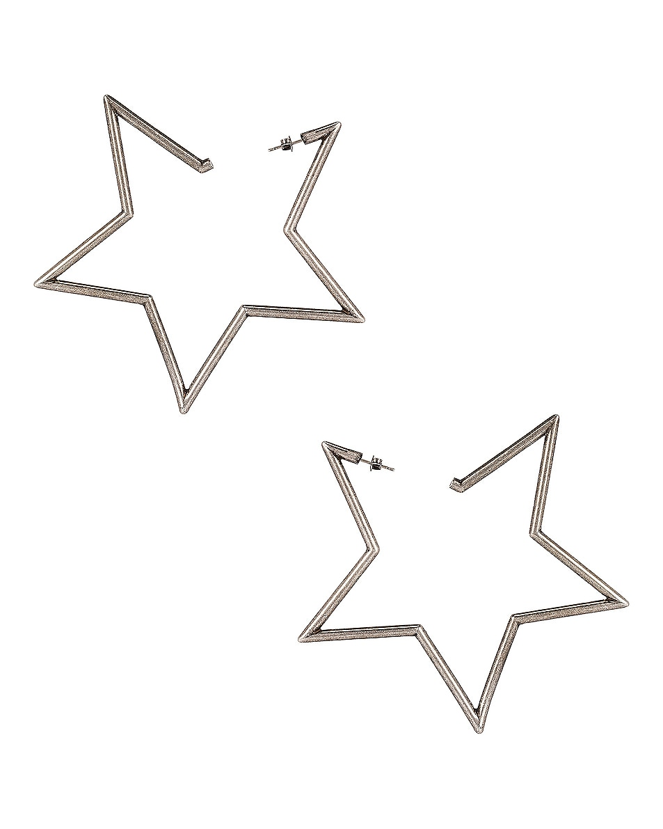 Image 1 of Saint Laurent Star Earrings in Silver