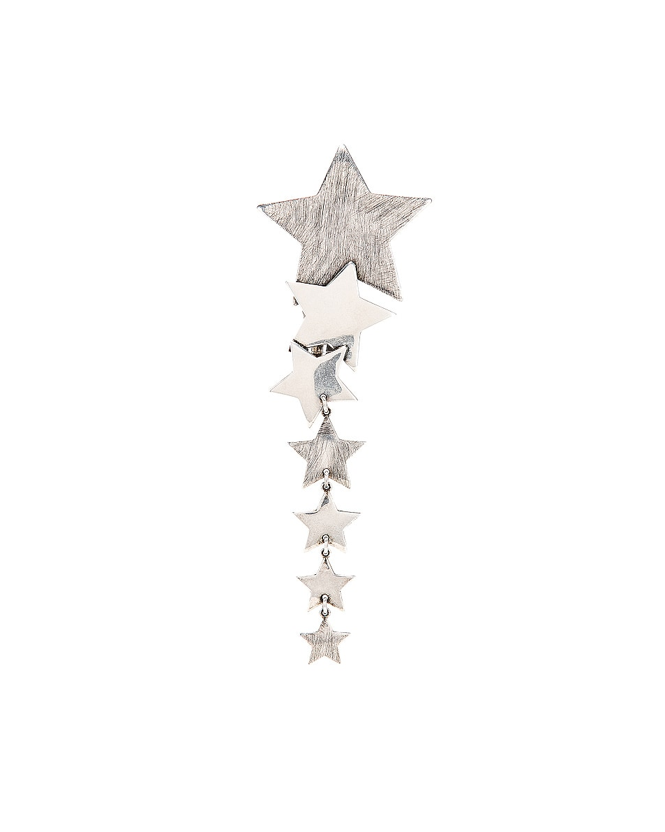 Image 1 of Saint Laurent Star Earring in Oxidized Silver