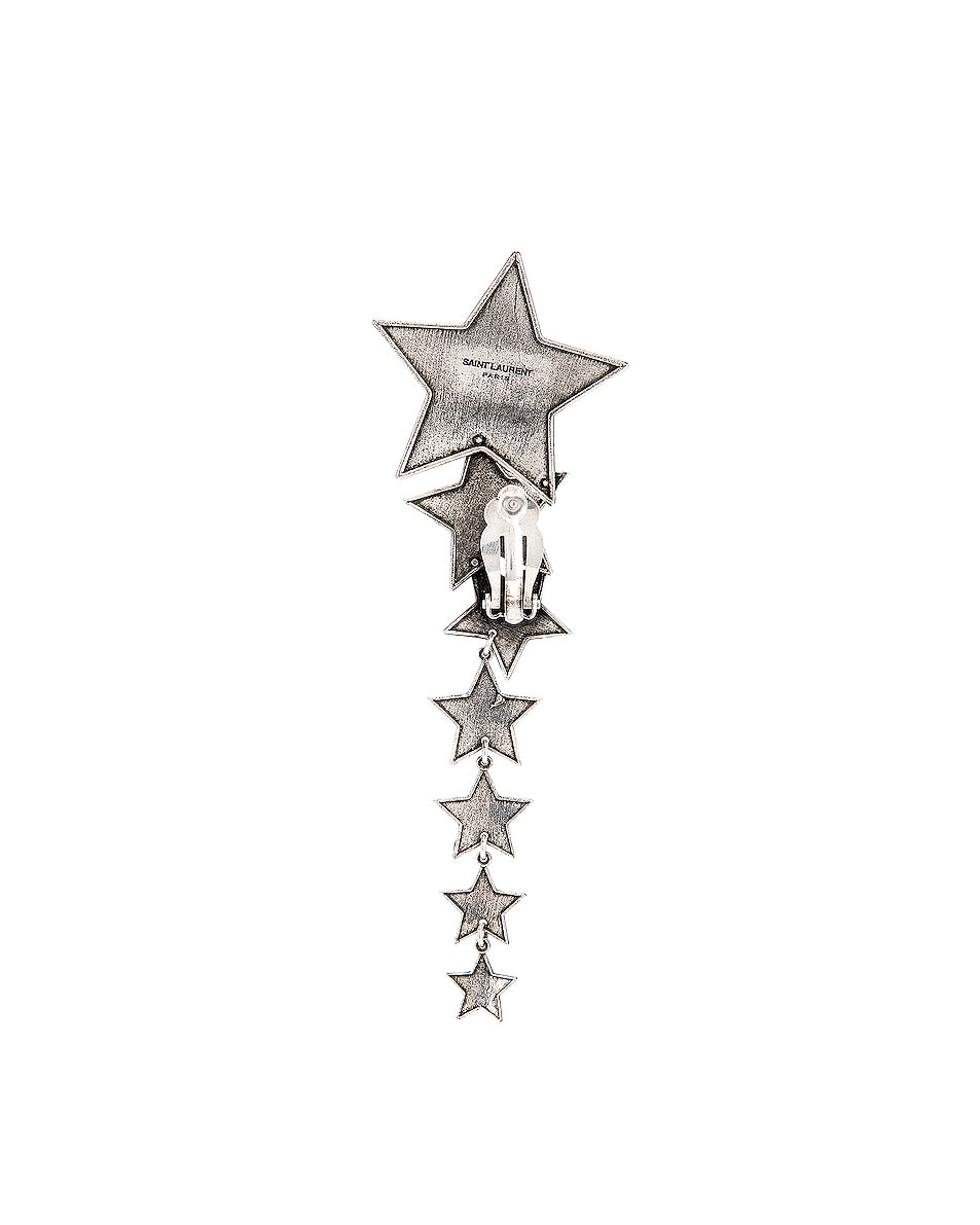 Image 4 of Saint Laurent Star Earring in Oxidized Silver