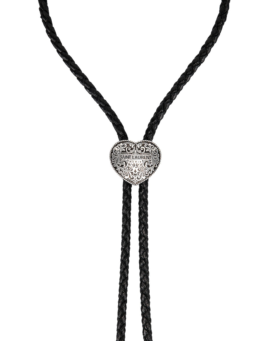 Image 2 of Saint Laurent Bollero Necklace in Black