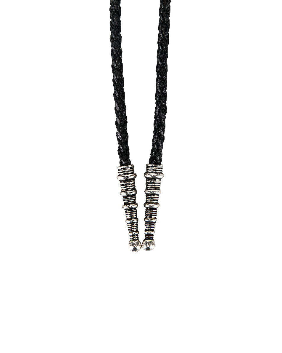 Image 3 of Saint Laurent Bollero Necklace in Black