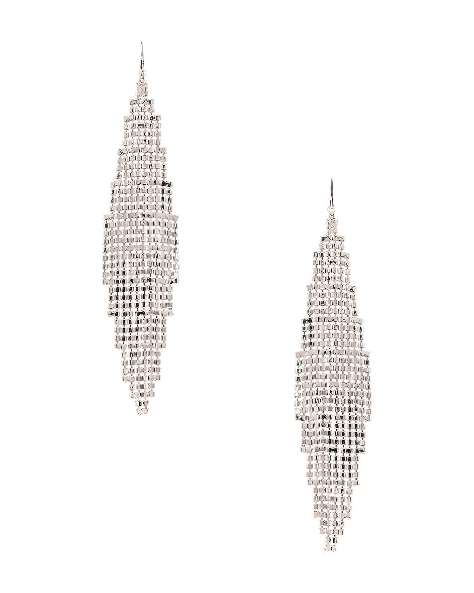 Image 3 of Saint Laurent Chandelier Earrings in Palladium & Crystal