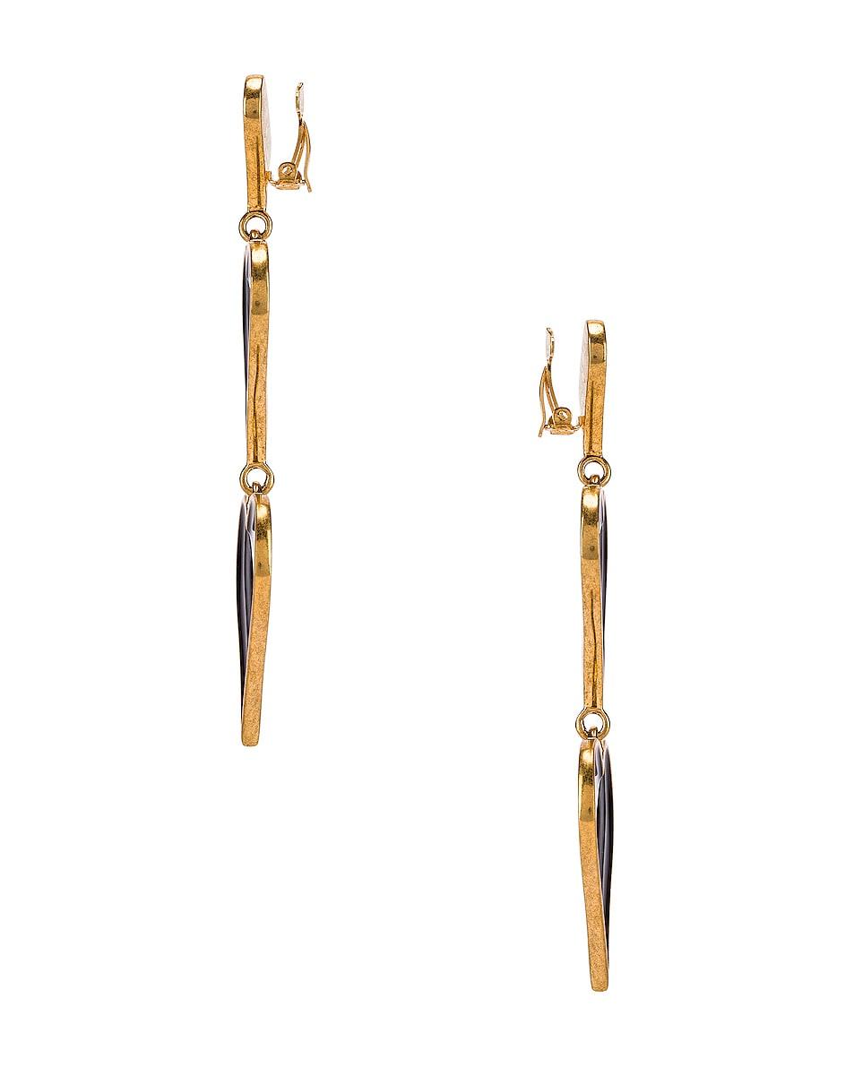 Image 3 of Saint Laurent Heart Earrings in Black