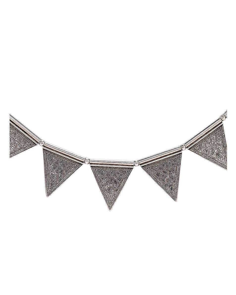 Image 3 of Saint Laurent Triangle Necklace in Oxidized Silver