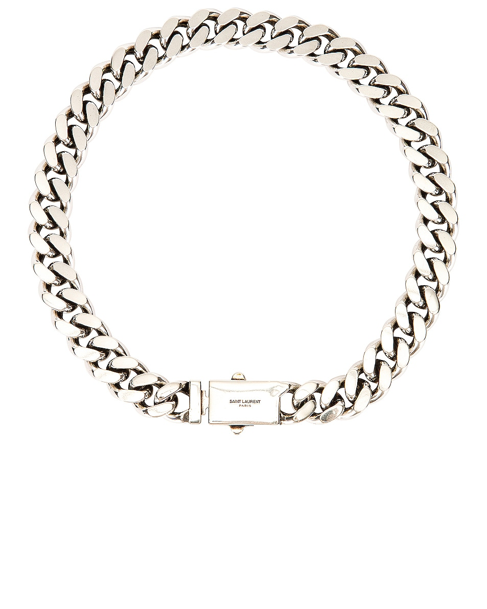 Image 1 of Saint Laurent Chain Necklace in Argent Oxyde