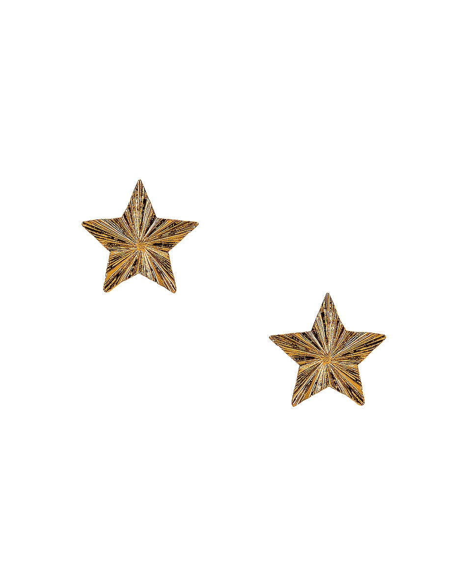 Image 1 of Saint Laurent Star Earrings in Bronze