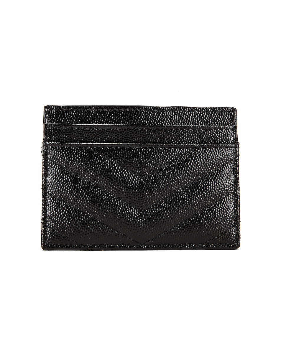 Image 2 of Saint Laurent Monogramme Card Case in Black