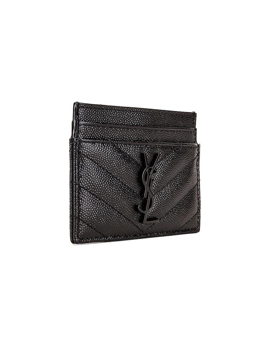Image 3 of Saint Laurent Monogramme Card Case in Black