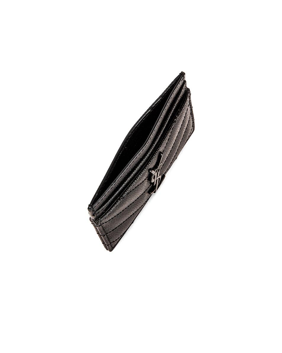 Image 4 of Saint Laurent Monogramme Card Case in Black
