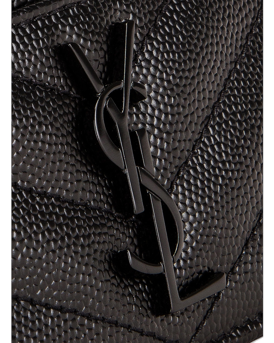 Image 6 of Saint Laurent Monogramme Card Case in Black