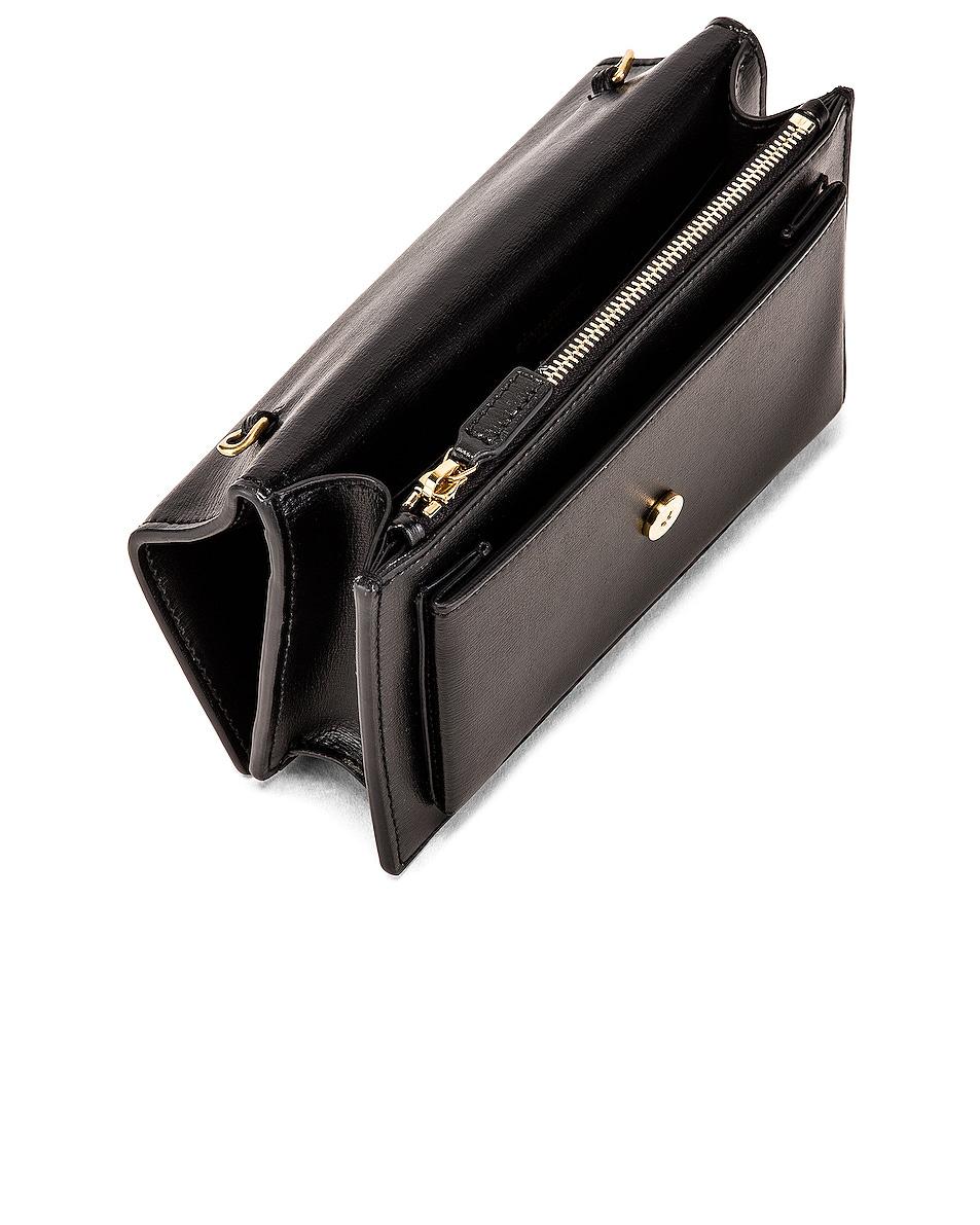 Image 5 of Saint Laurent Sunset Monogramme Crossbody Bag in Black