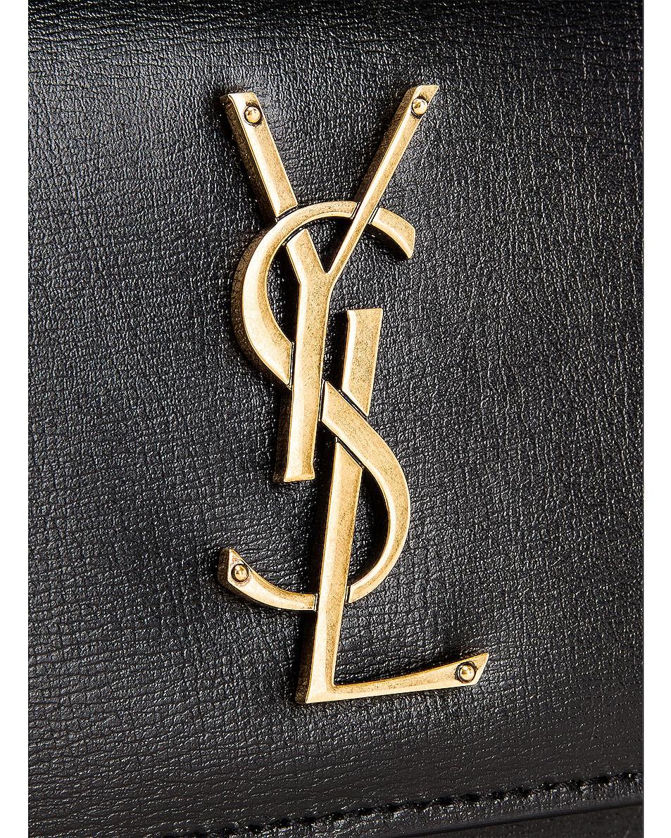 Image 8 of Saint Laurent Sunset Monogramme Crossbody Bag in Black