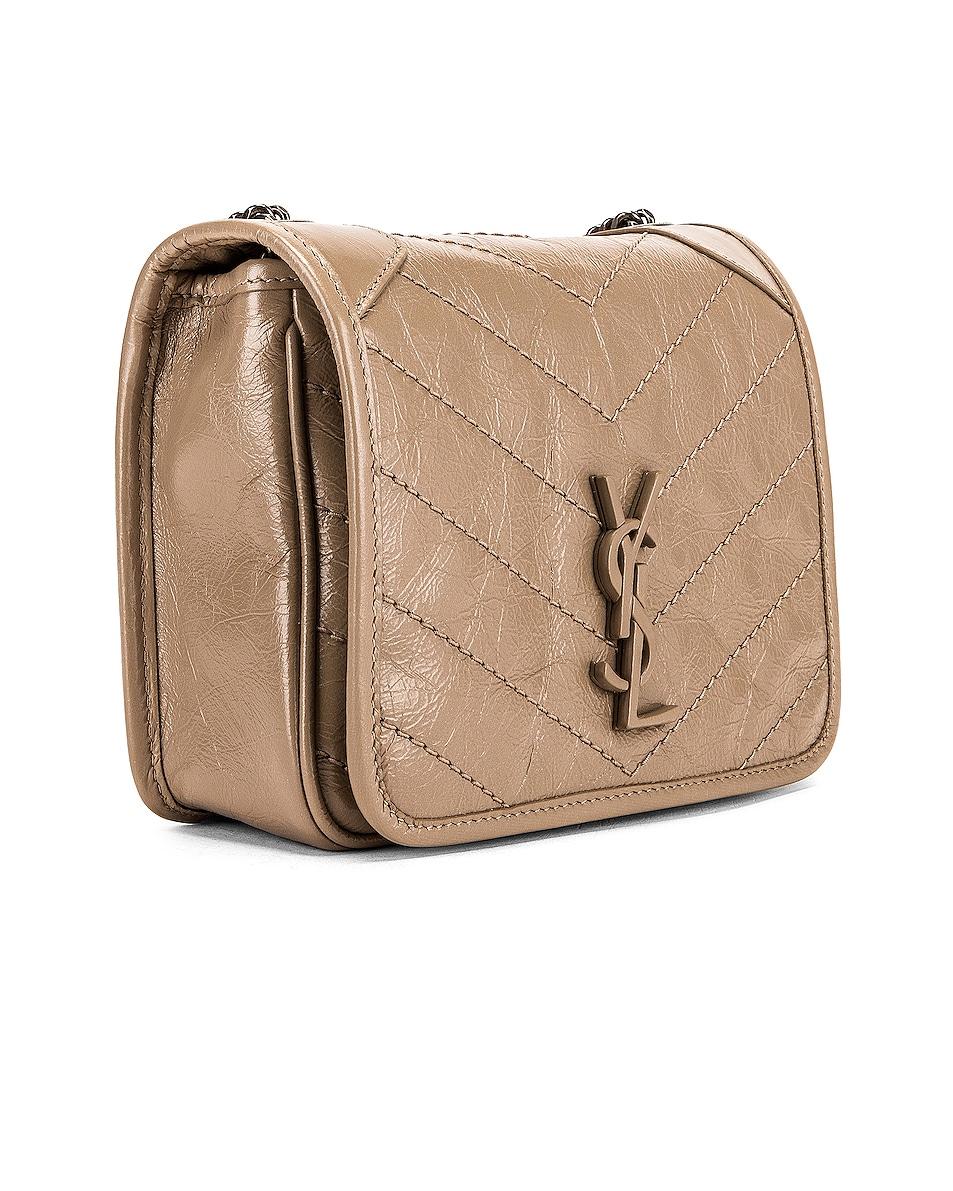 Image 3 of Saint Laurent Niki Wallet Chain Bag in Dusty Grey
