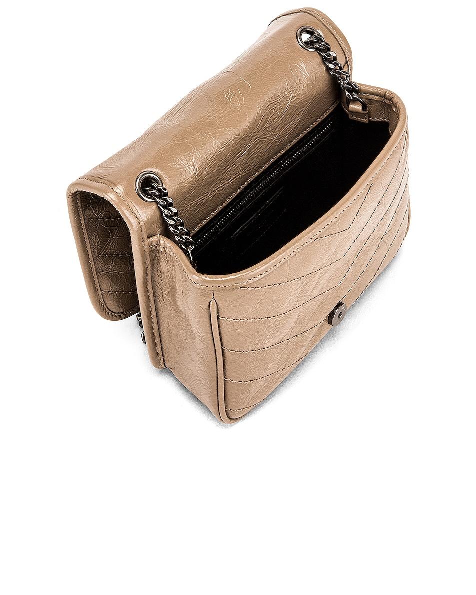 Image 4 of Saint Laurent Niki Wallet Chain Bag in Dusty Grey