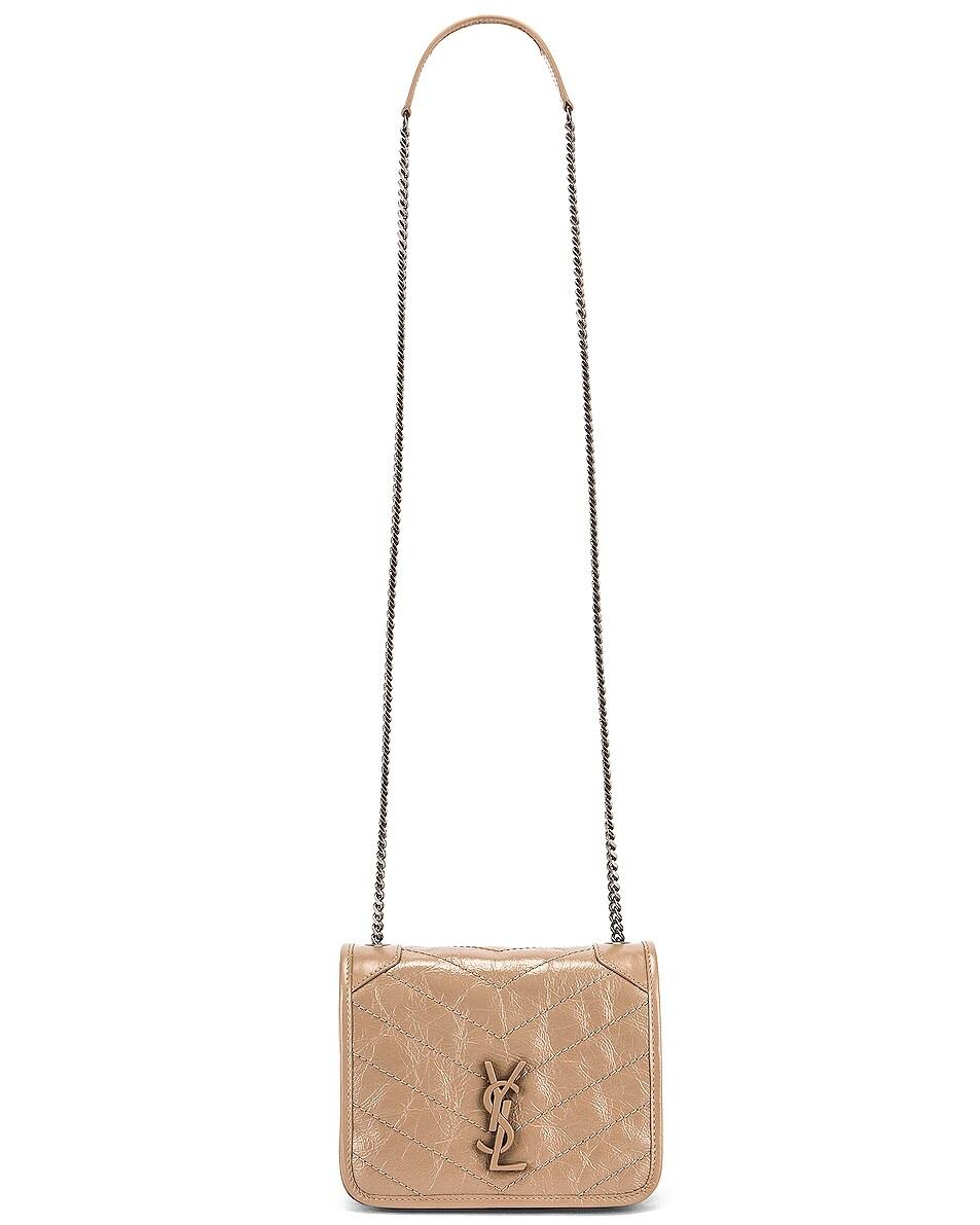 Image 5 of Saint Laurent Niki Wallet Chain Bag in Dusty Grey