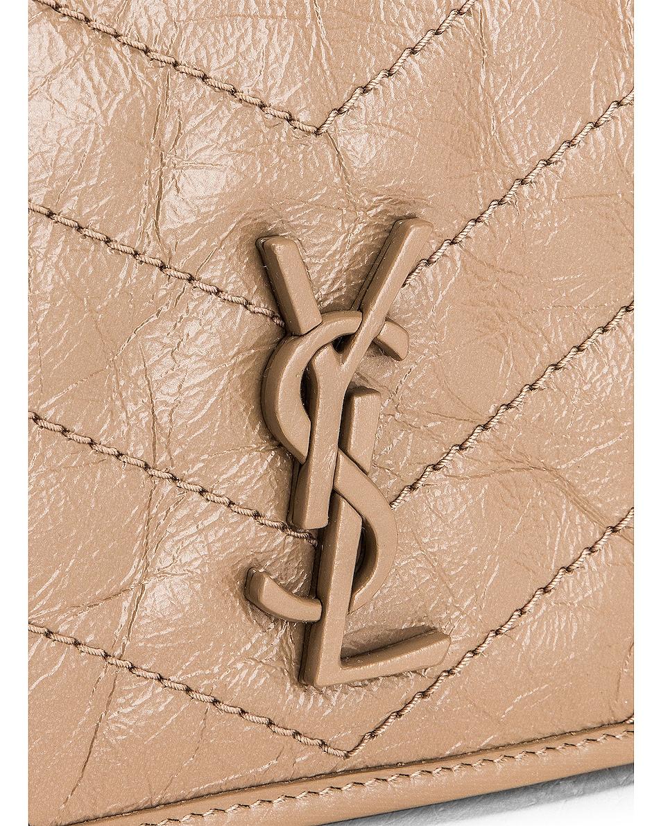 Image 7 of Saint Laurent Niki Wallet Chain Bag in Dusty Grey