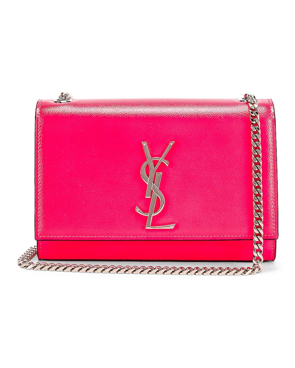 Image 1 of Saint Laurent Monogramme Kate Crossbody Bag in Neon Pink