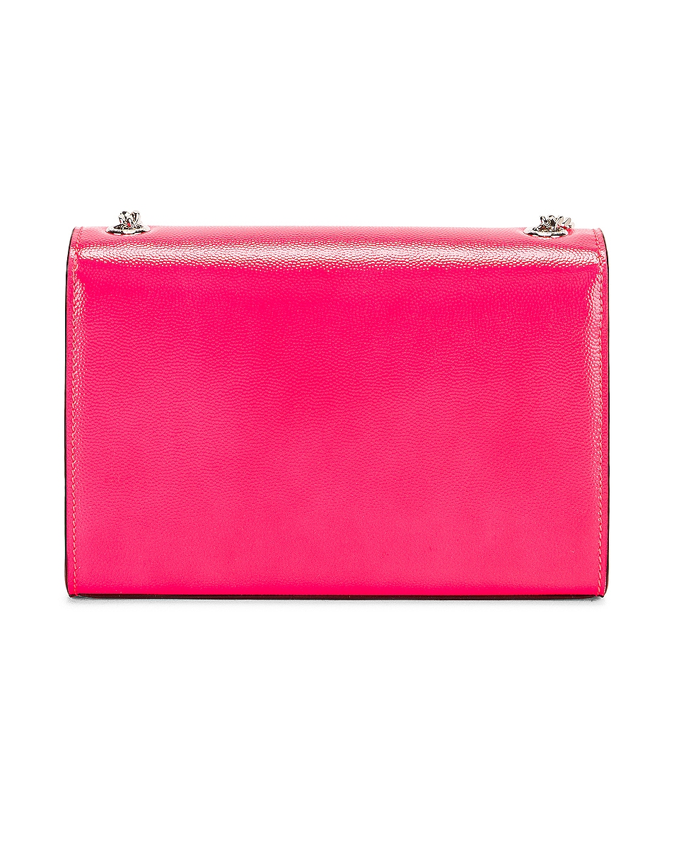 Image 3 of Saint Laurent Monogramme Kate Crossbody Bag in Neon Pink