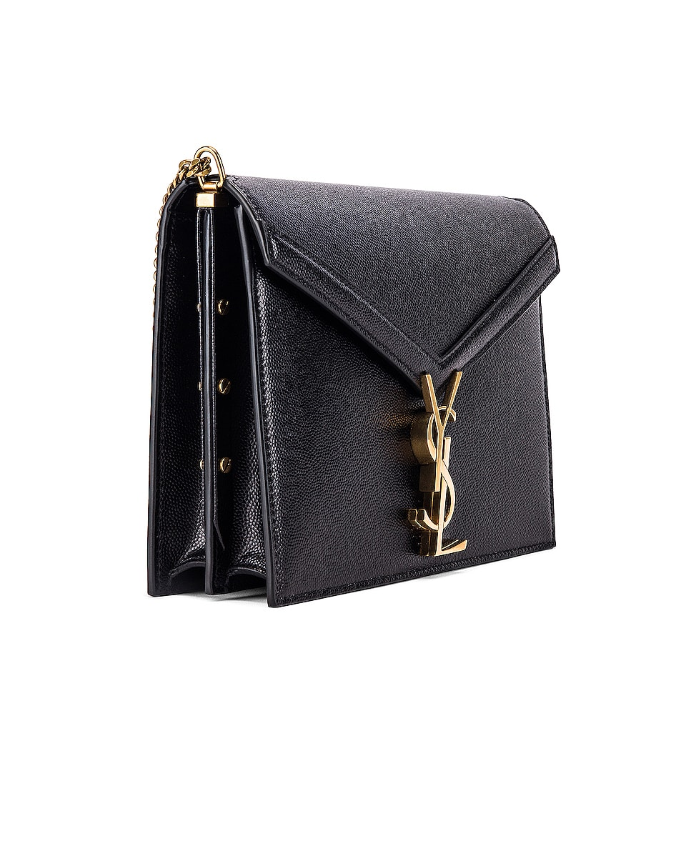 Image 4 of Saint Laurent Medium Monogramme Cassandra Crossbody Bag in Black