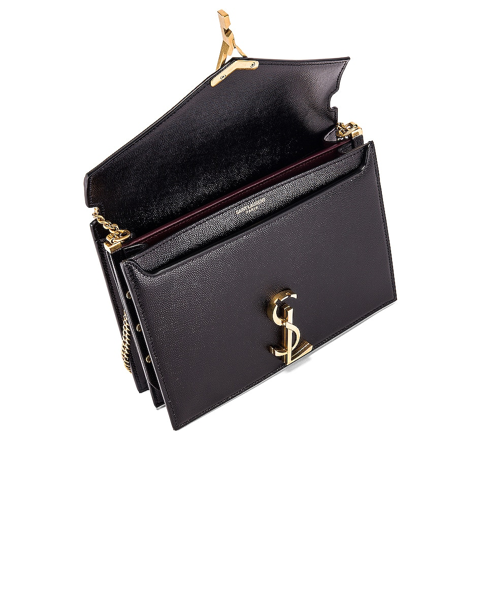 Image 5 of Saint Laurent Medium Monogramme Cassandra Crossbody Bag in Black