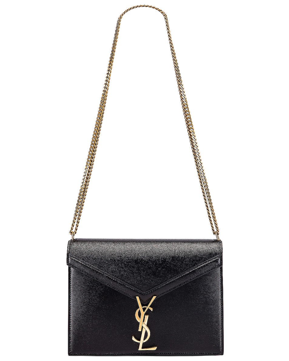 Image 6 of Saint Laurent Medium Monogramme Cassandra Crossbody Bag in Black