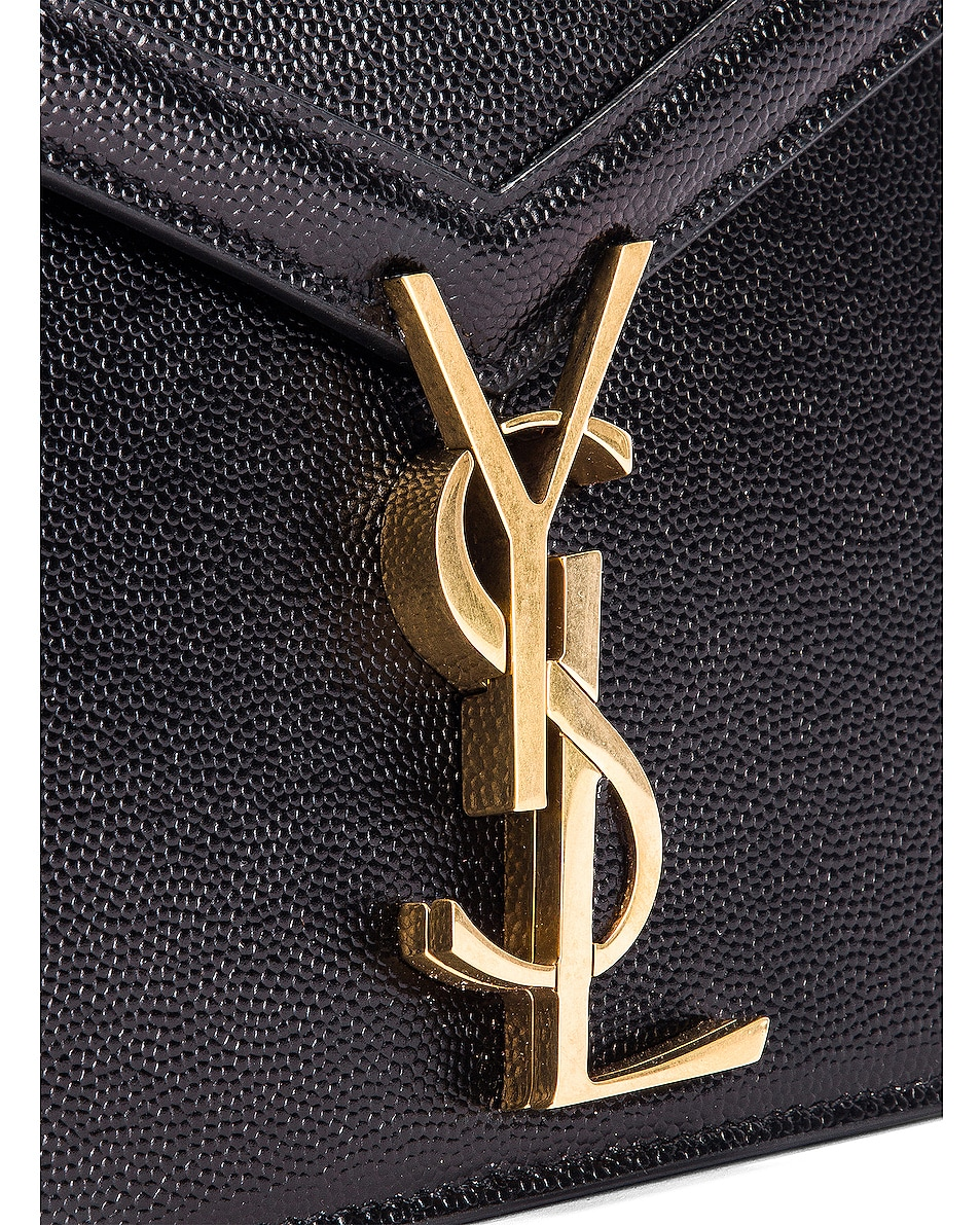 Image 8 of Saint Laurent Medium Monogramme Cassandra Crossbody Bag in Black