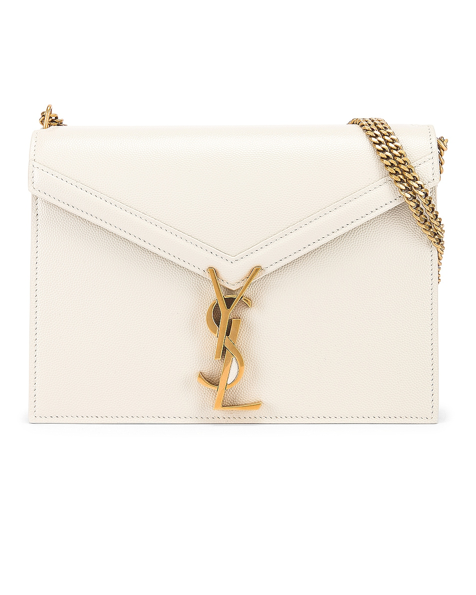 Image 1 of Saint Laurent Medium Monogramme Cassandra Crossbody Bag in Crema Soft