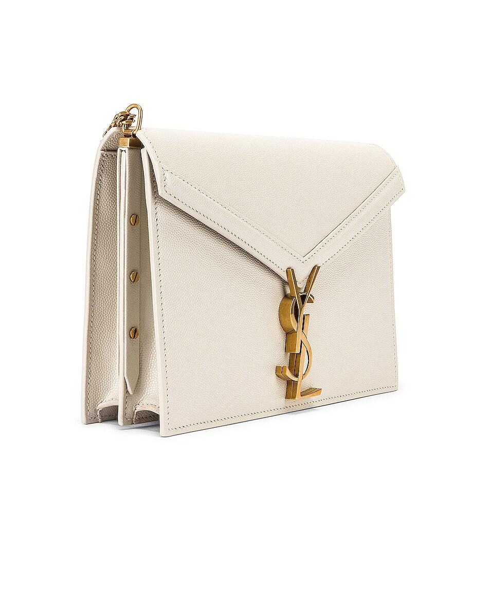 Image 4 of Saint Laurent Medium Monogramme Cassandra Crossbody Bag in Crema Soft