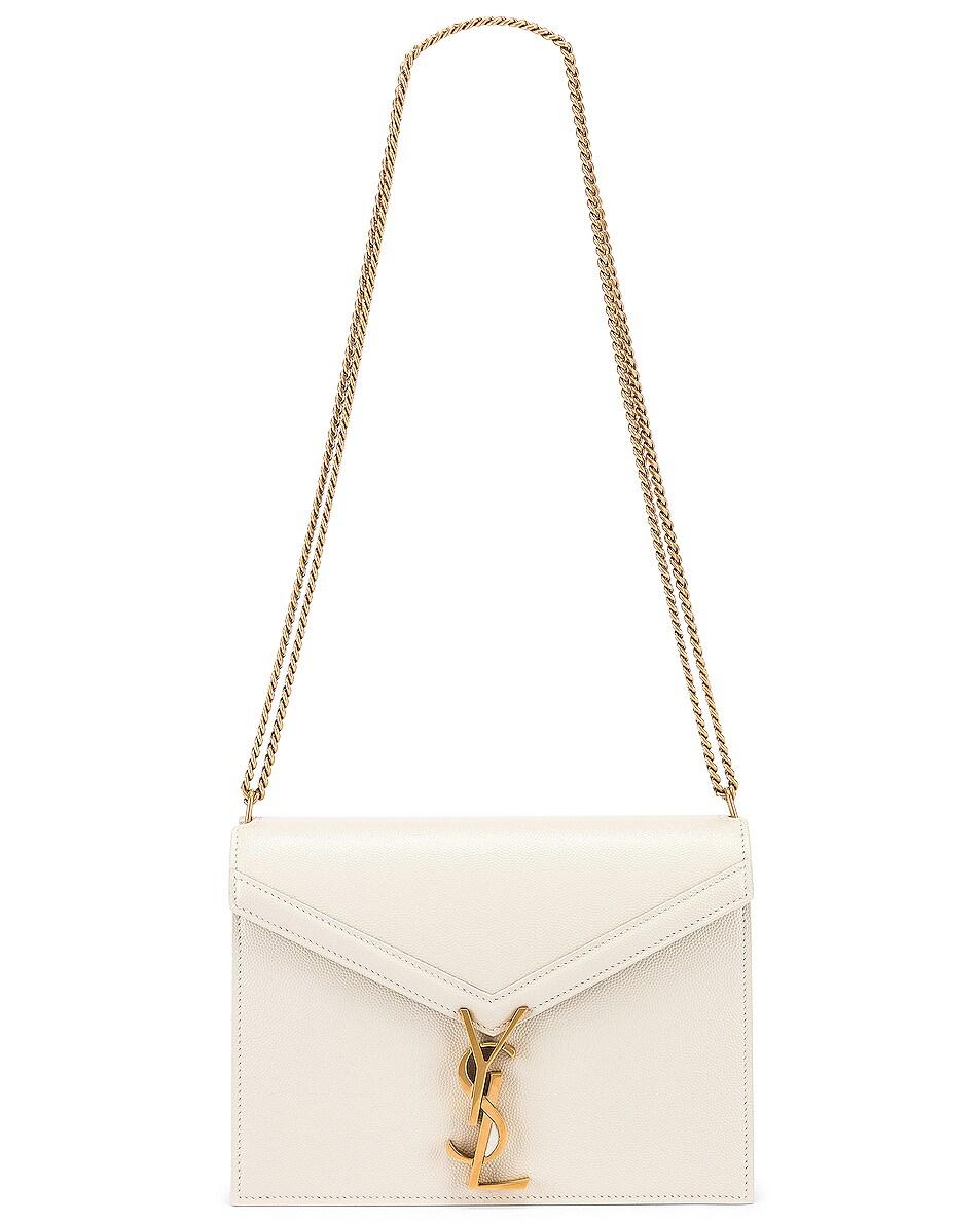 Image 6 of Saint Laurent Medium Monogramme Cassandra Crossbody Bag in Crema Soft