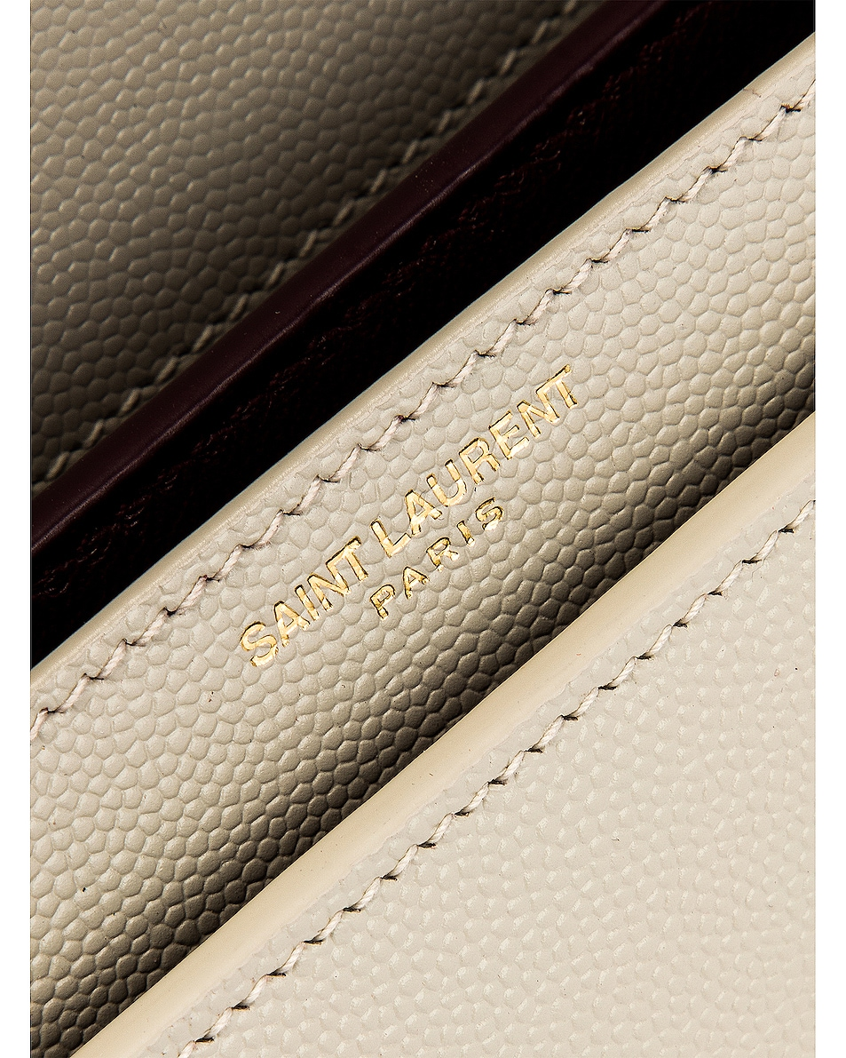 Image 7 of Saint Laurent Medium Monogramme Cassandra Crossbody Bag in Crema Soft
