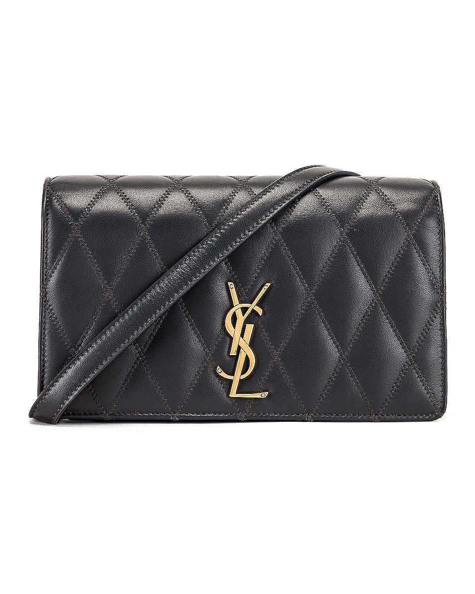 Image 1 of Saint Laurent Angie Crossbody Bag in Dark Smog