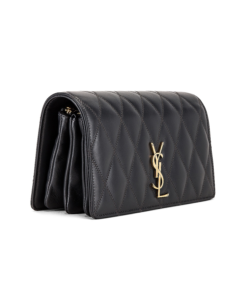 Image 4 of Saint Laurent Angie Crossbody Bag in Dark Smog