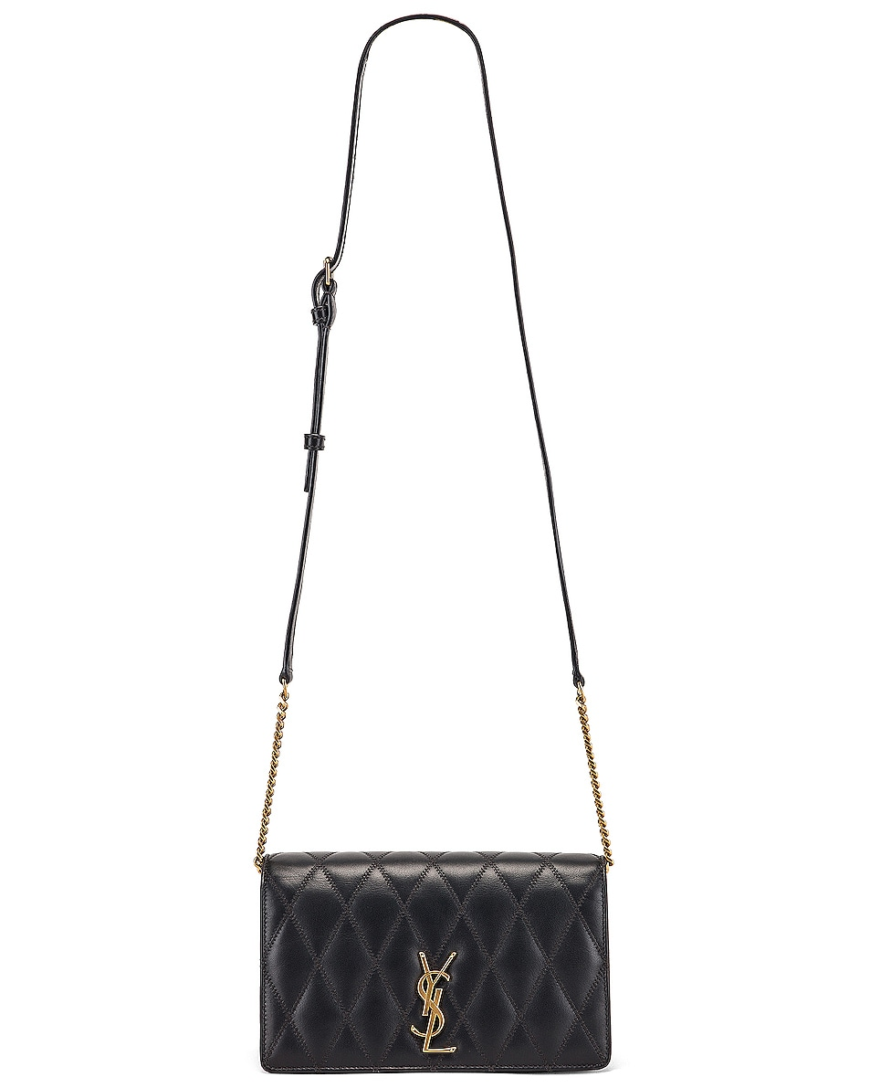 Image 6 of Saint Laurent Angie Crossbody Bag in Dark Smog