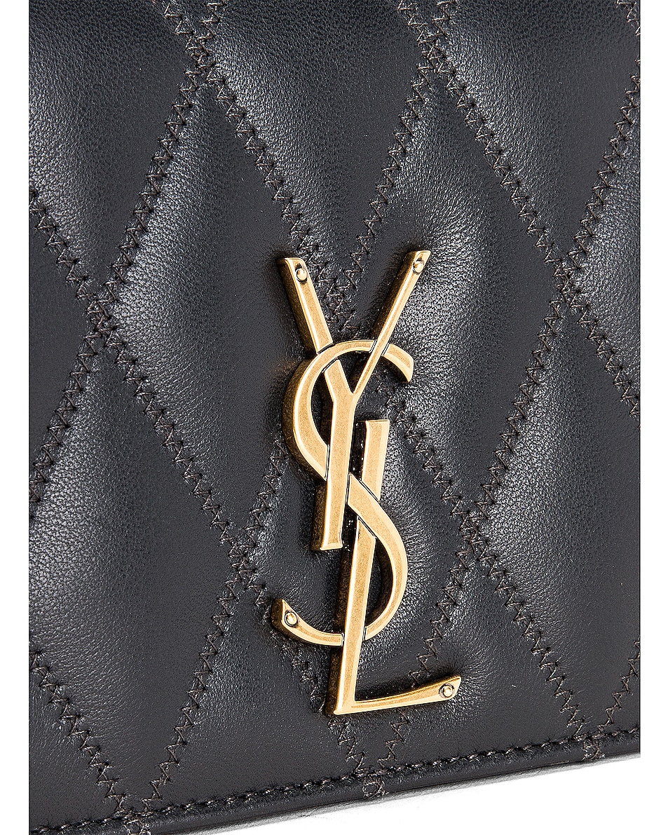 Image 8 of Saint Laurent Angie Crossbody Bag in Dark Smog