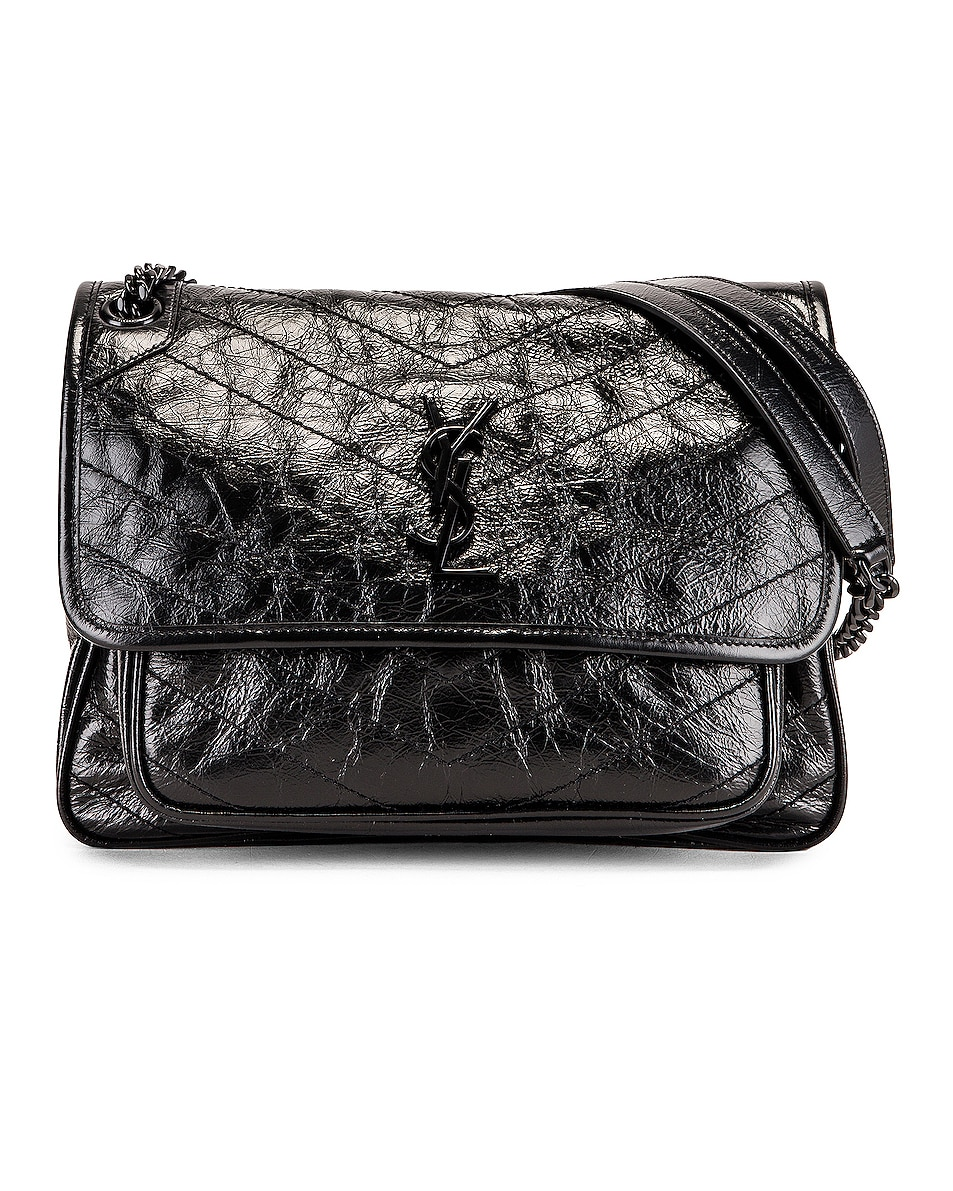 Image 1 of Saint Laurent Medium Niki Chain Shoulder Bag in Black