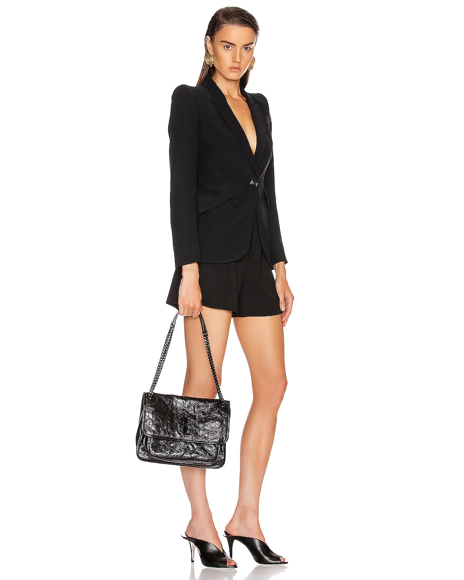 Image 2 of Saint Laurent Monogramme Niki Shoulder Bag in Black