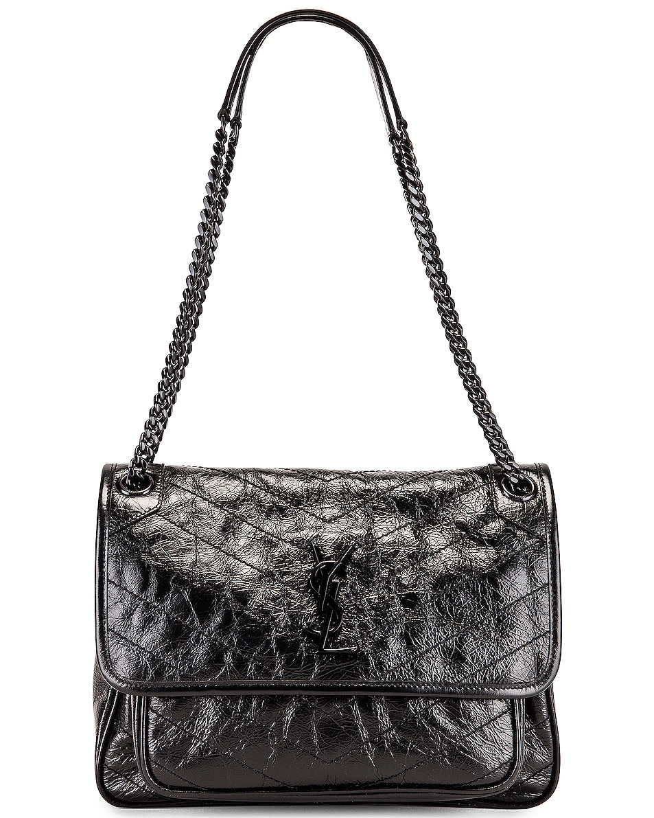 Image 6 of Saint Laurent Medium Niki Chain Shoulder Bag in Black