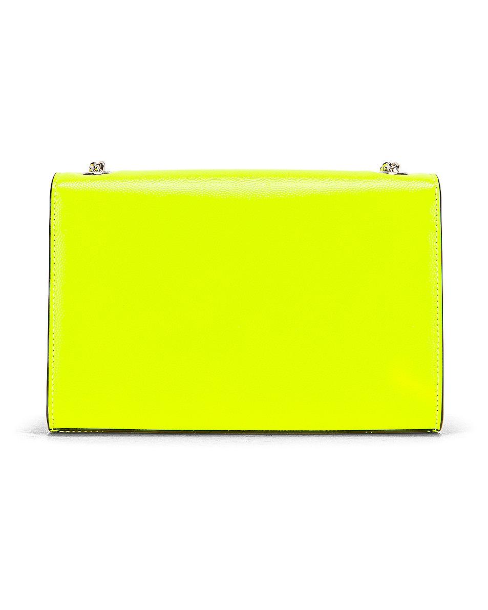 Image 3 of Saint Laurent Monogramme Kate Crossbody Bag in Neon Yellow