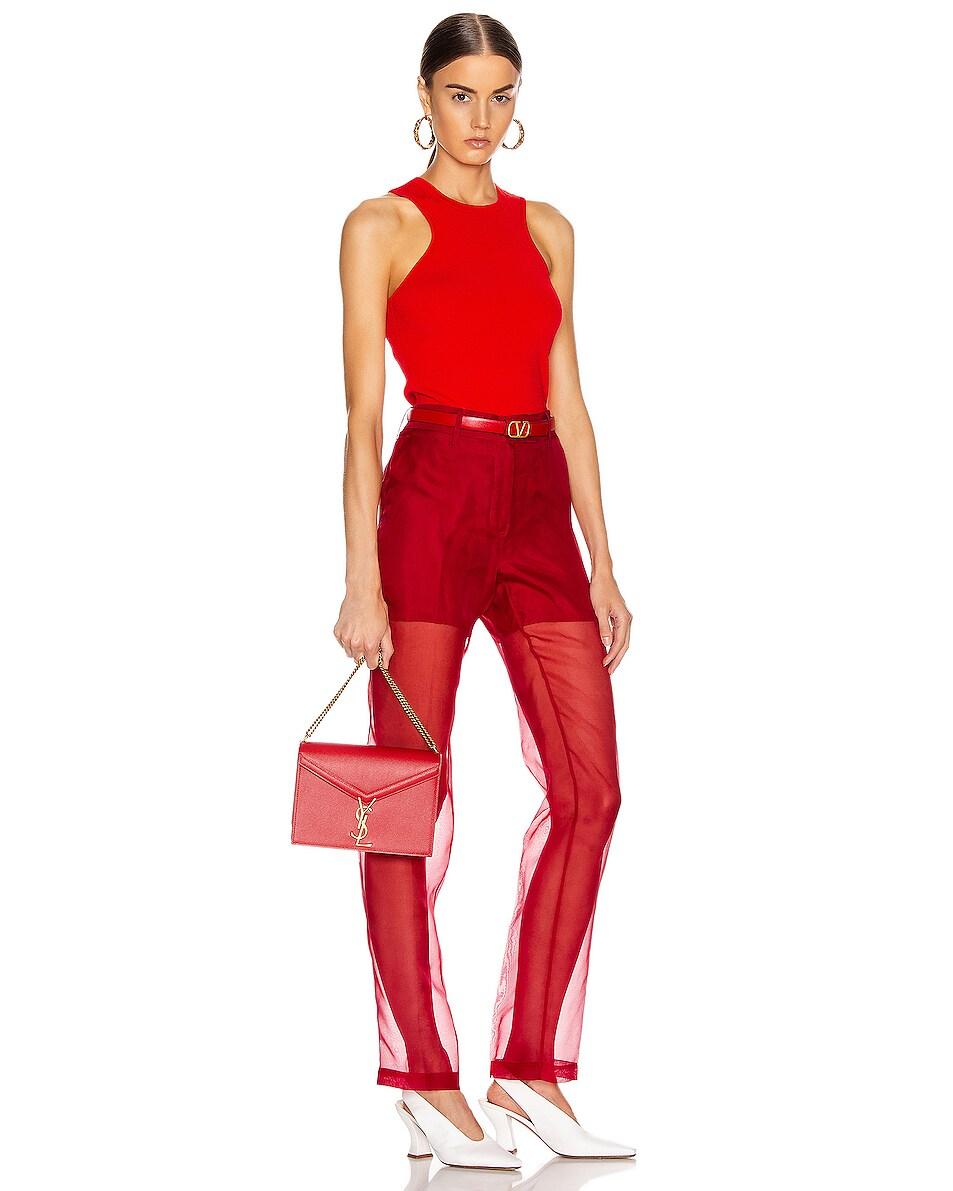 Image 2 of Saint Laurent Medium Monogramme Cassandra Crossbody Bag in Red