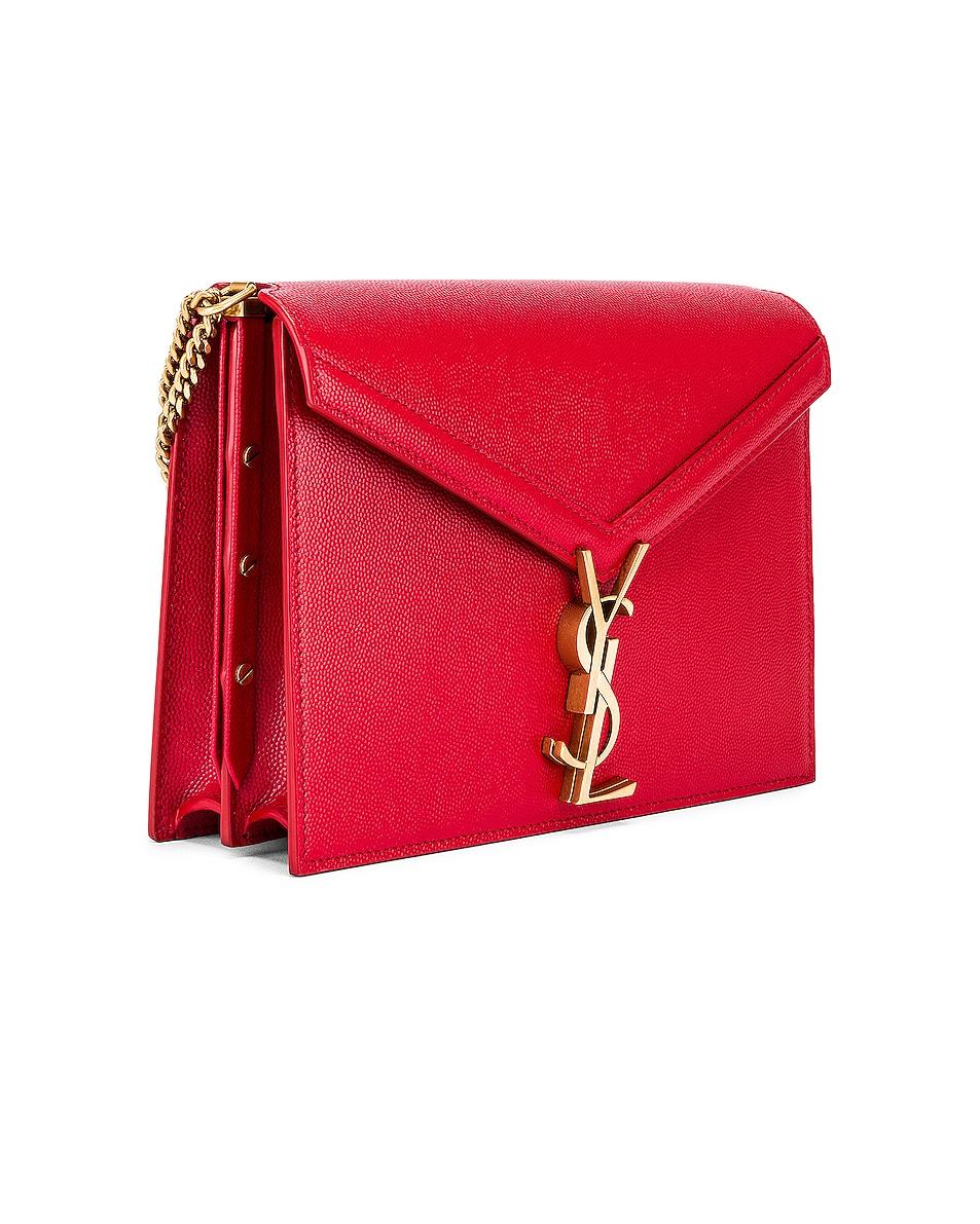 Image 4 of Saint Laurent Medium Monogramme Cassandra Crossbody Bag in Red