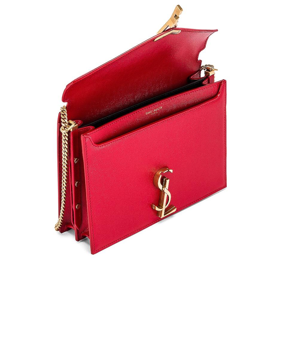 Image 5 of Saint Laurent Medium Monogramme Cassandra Crossbody Bag in Red