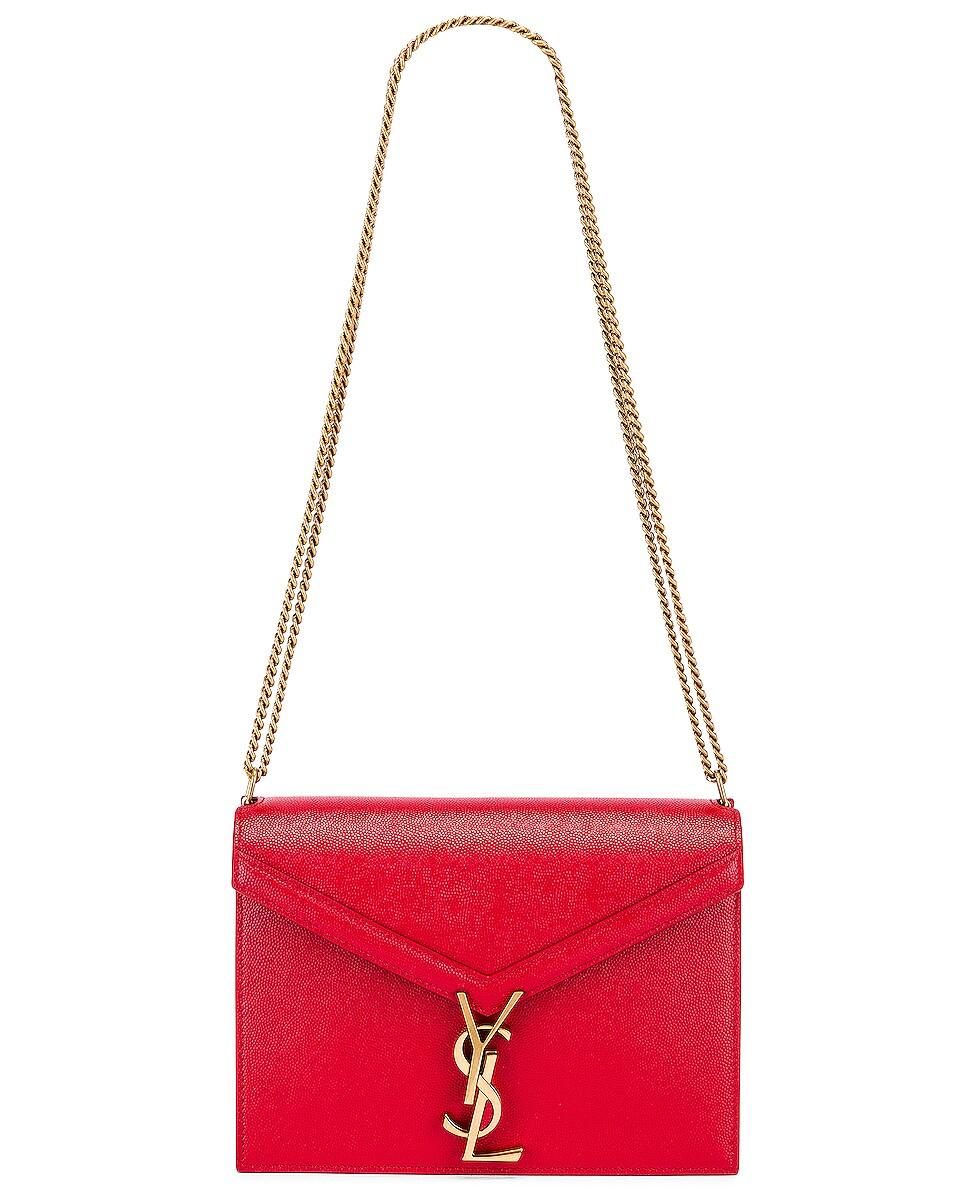 Image 6 of Saint Laurent Medium Monogramme Cassandra Crossbody Bag in Red