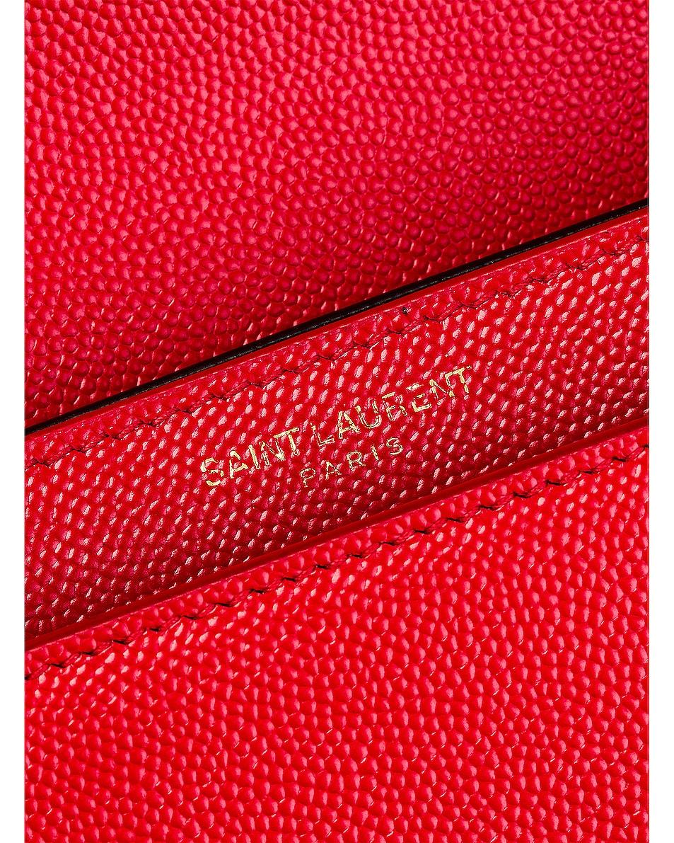Image 7 of Saint Laurent Medium Monogramme Cassandra Crossbody Bag in Red