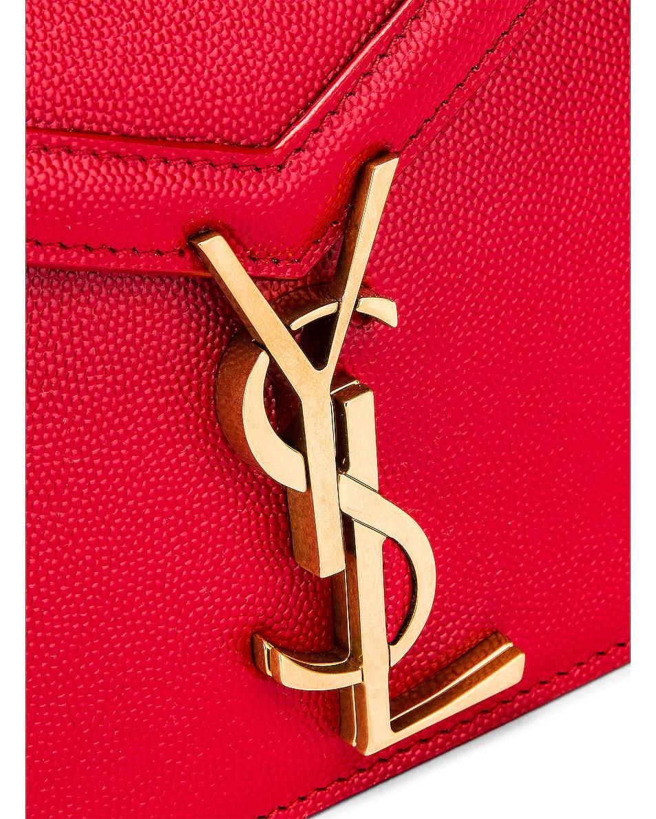 Image 8 of Saint Laurent Medium Monogramme Cassandra Crossbody Bag in Red