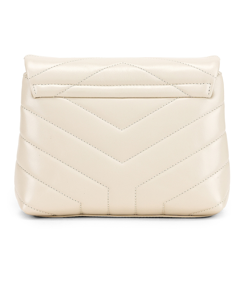 Image 3 of Saint Laurent Toy Supple Monogramme Loulou Strap Bag in Crema Soft
