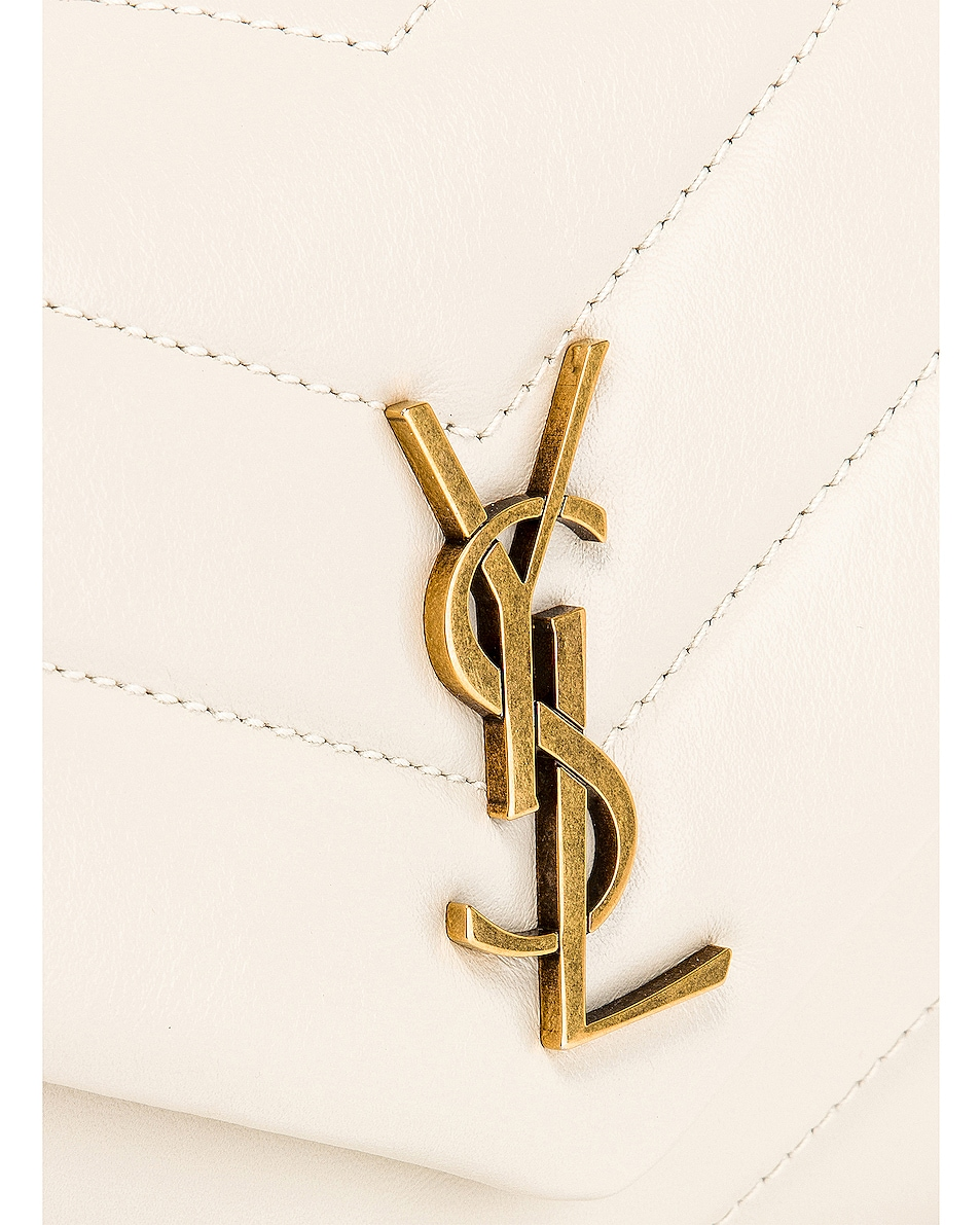 Image 8 of Saint Laurent Toy Supple Monogramme Loulou Strap Bag in Crema Soft