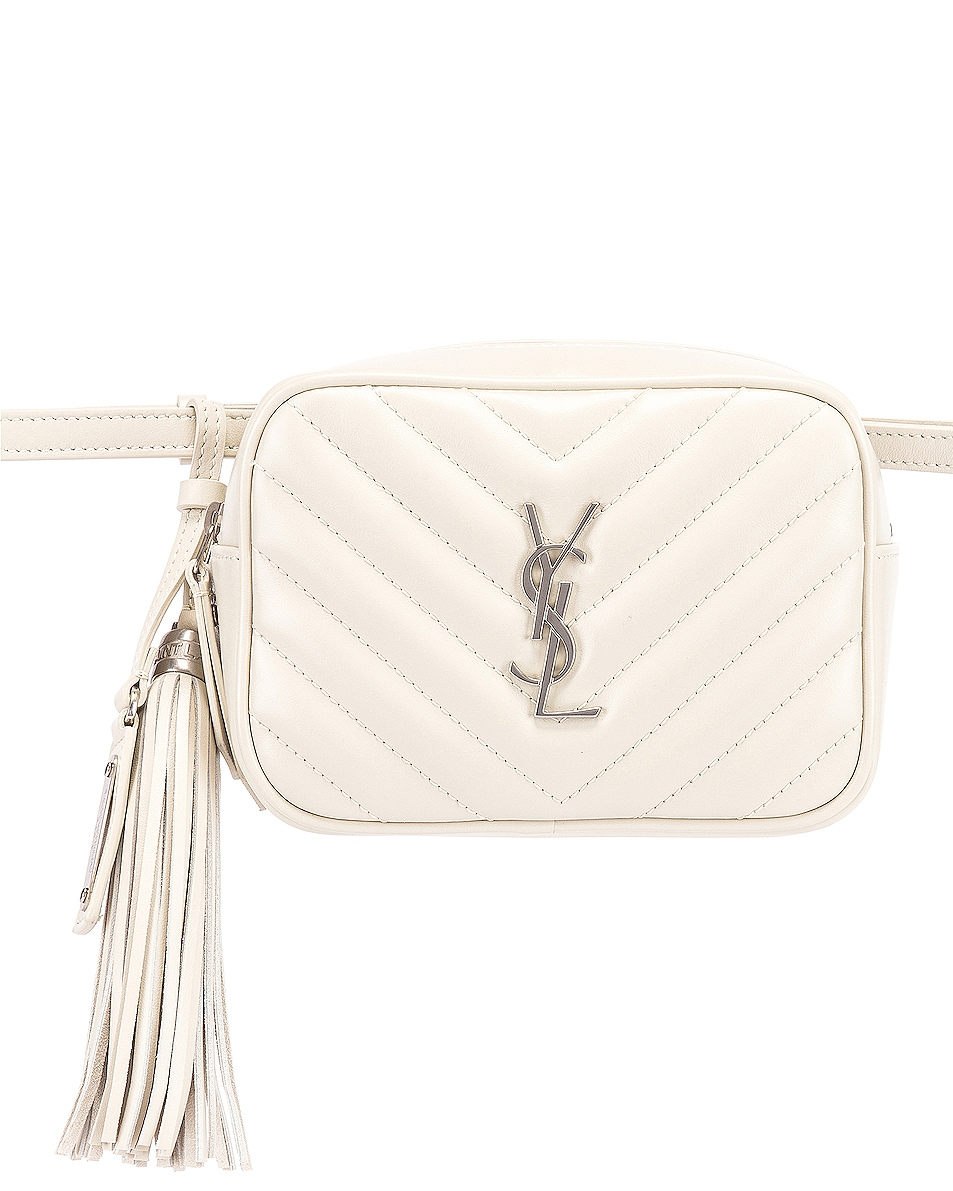 Image 1 of Saint Laurent Lou Leather Belt Bag in Crema Soft