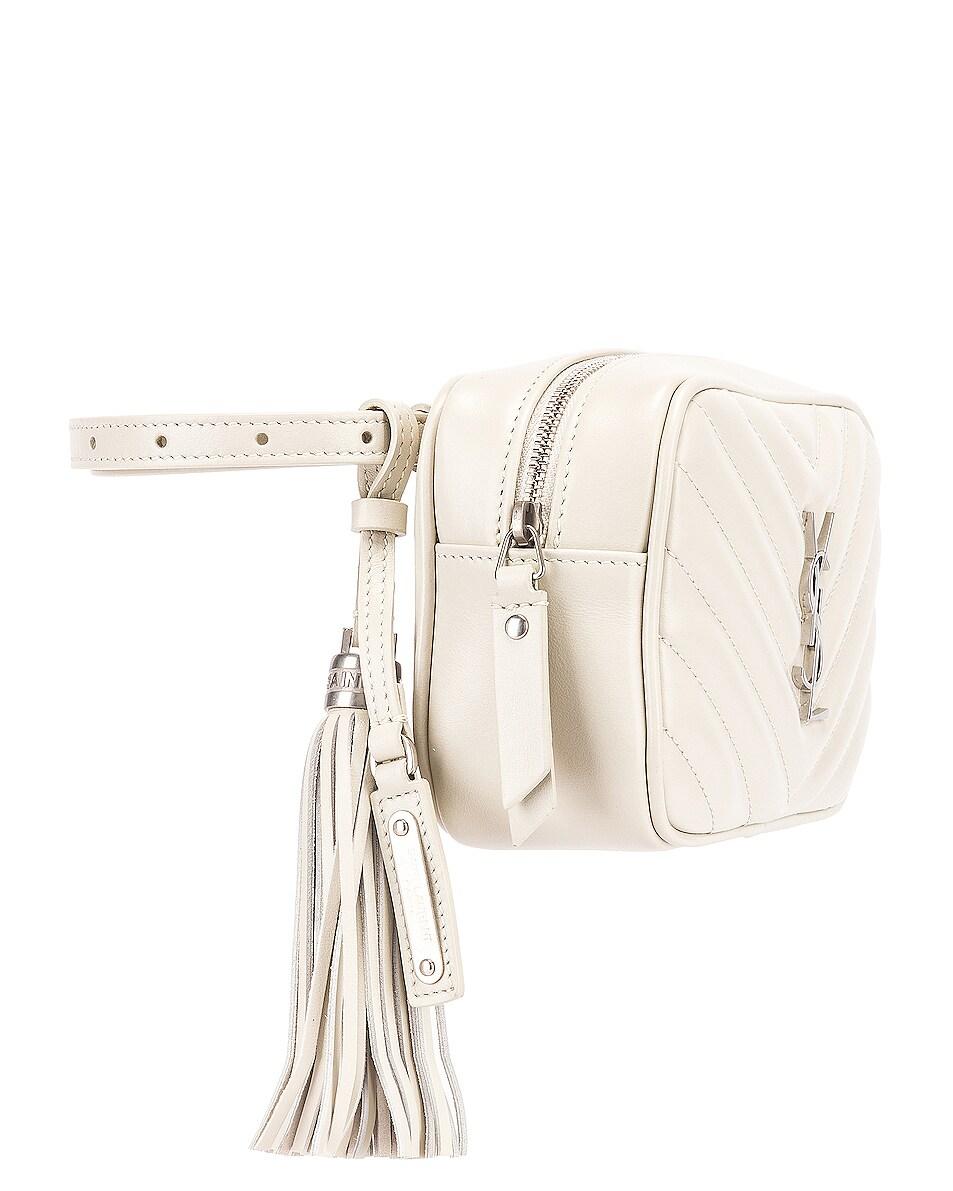 Image 4 of Saint Laurent Lou Leather Belt Bag in Crema Soft